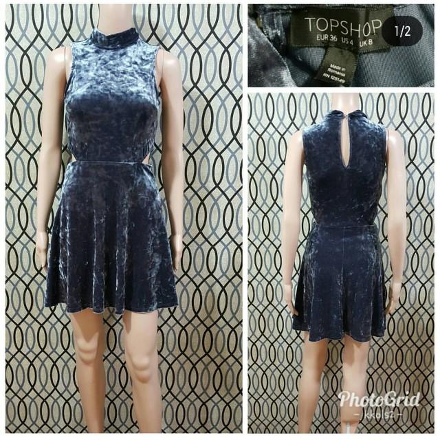 Topshop Velvet Dress