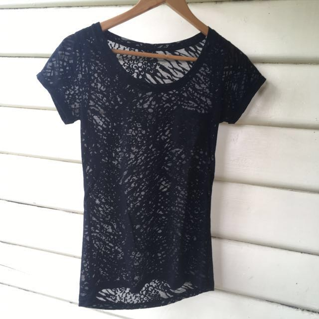 Transparent Print t-shirt