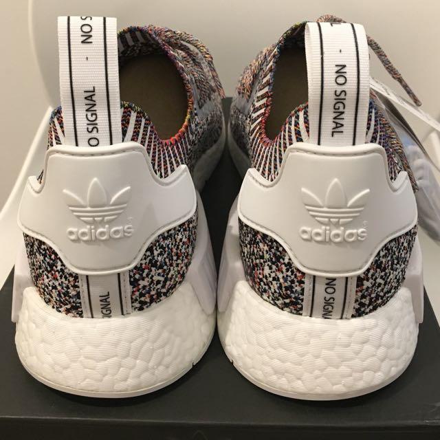 66519e17c43fa UK10.5 Adidas Originals NMD R1 PK COLOR STATIC NO SIGNAL