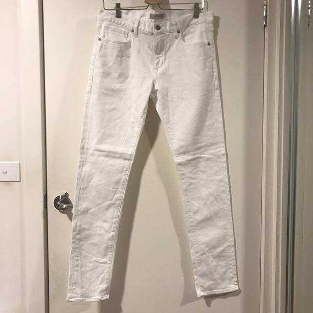Uniqlo White Skinny Fit Jeans