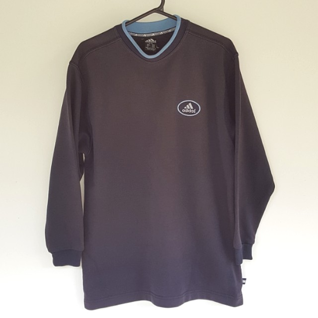 Vintage Adidas 90s Sweater M Navy Jumper Top Made In Australia