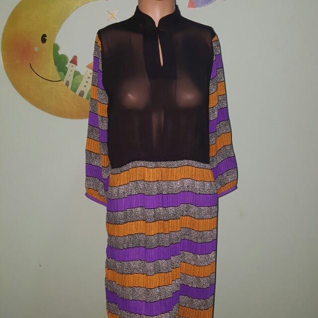 Vintage style pleats dress
