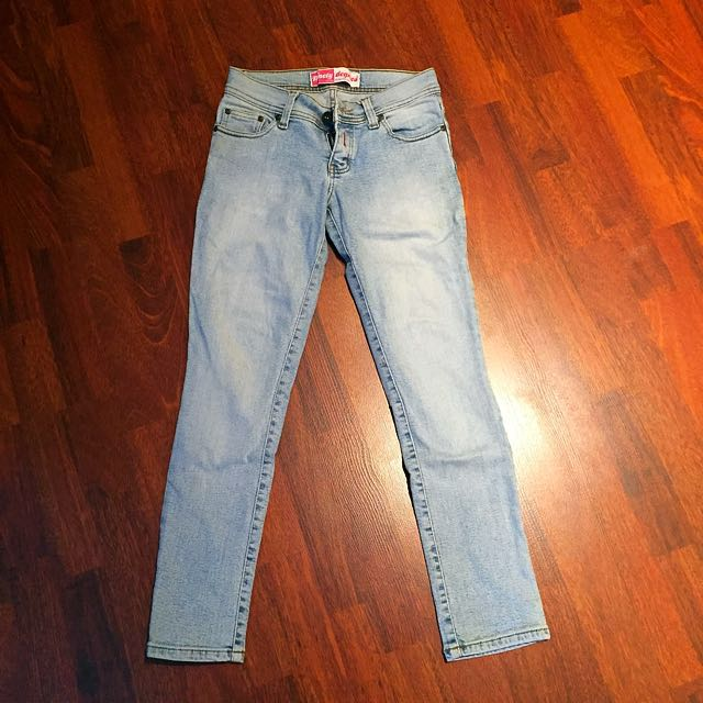 Woman Light Blue Washed Jeans