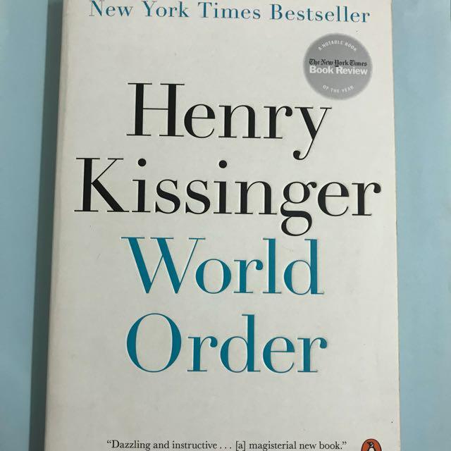 World Order By Henry Kissinger Books Stationery Books On Carousell