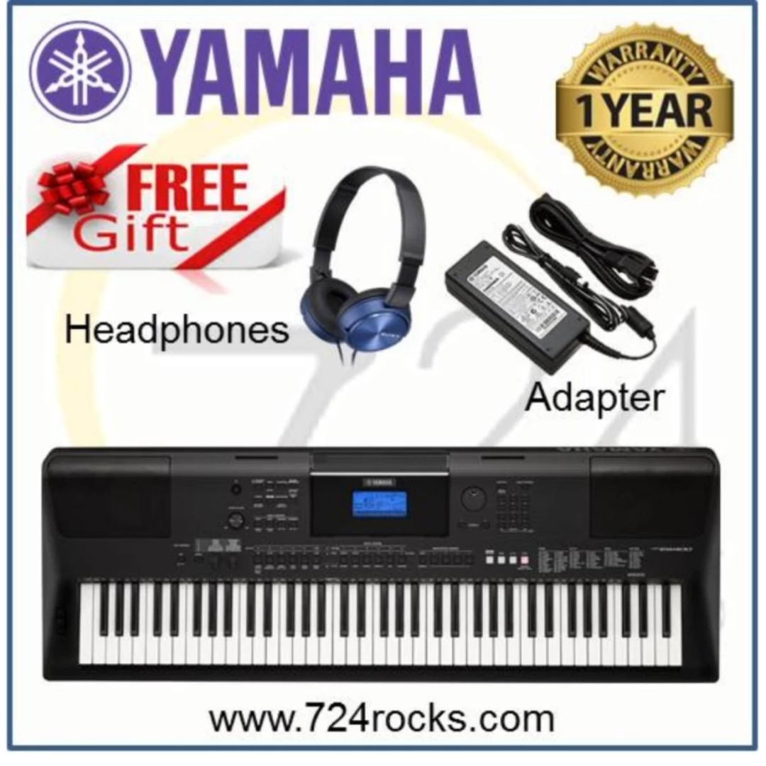 Yamaha PSR-EW400 76 keys Portable Keyboard Free Adapter & Headphones, Music & Media, Music Instruments on Carousell
