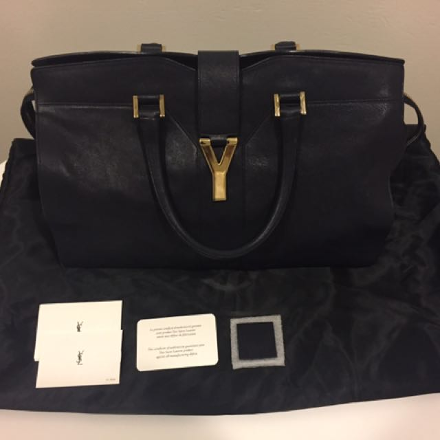 Yves Saint Laurent Medium Cabas Chyc Leather Tote Bag