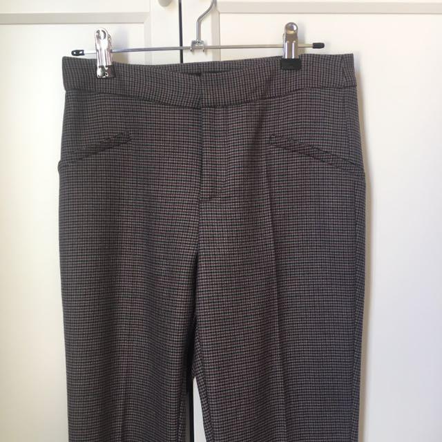 ZARA BASIC - Work pants houndstooth - size XS