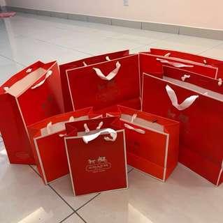 Authentic Coach paper bag Handbag