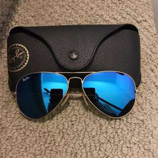 Authentic Rayban Blue Lense Sunglasses