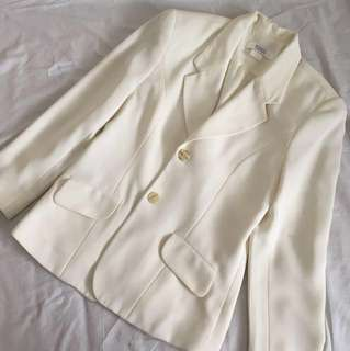 Cream blazer jacket