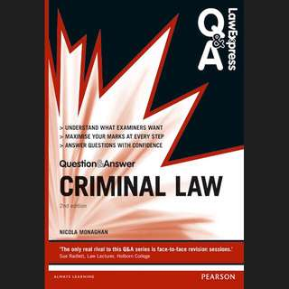 Law Express Question and Answer: Criminal Law (2nd Ed.)