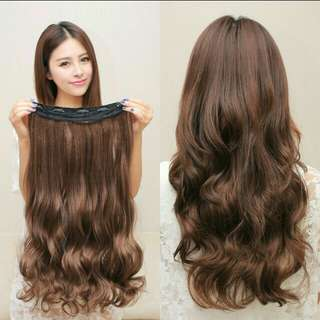 PO Korean wavy clip on hair extension * waiting time 10 to 14 days after payment is made *pm if int