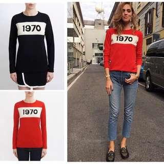 🚚 Bella Freud 1970復古羊毛衫 xs號