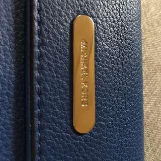 Michael Kors blue Slim Wallet