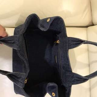Prada牛仔布袋,8新成,一手買回來時$5xxx!