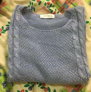 🚚 淡藍色毛衣💙麻花造型
