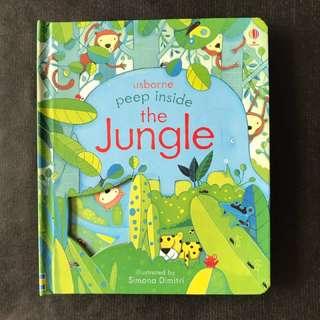 💥NEW - Usborne Peep inside - The Jungle-  Children Story Books #blackfridaysale