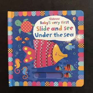 💥 NEW - Usborne Baby's Very First Slide and Under The Sea - Baby Story Books #blackfridaysale