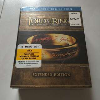 Lord Of The Ring Exended Trilogy Bluray/DVD