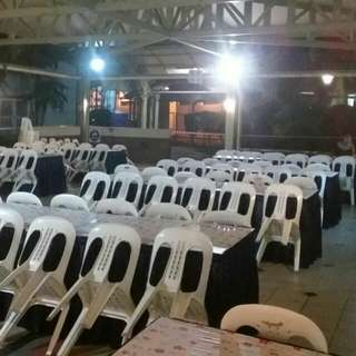 Mini Event Renting Chair & Table  With/Without Skirting