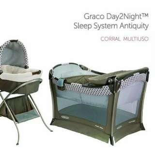Graco playard pack n play with baby bassinet and moses basket