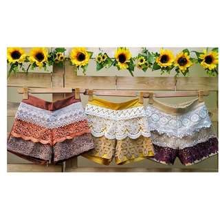 Regular Size Front Lace Shorts