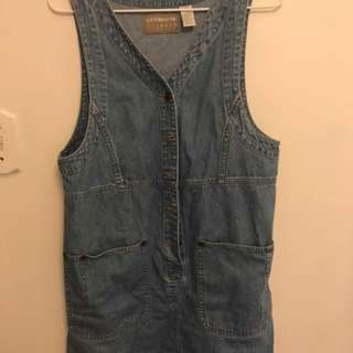 Thrfted Jean button dress