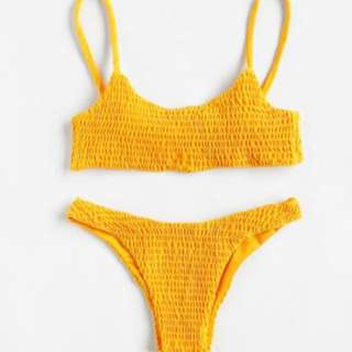 BNWT Yellow Frilled Bikini Set