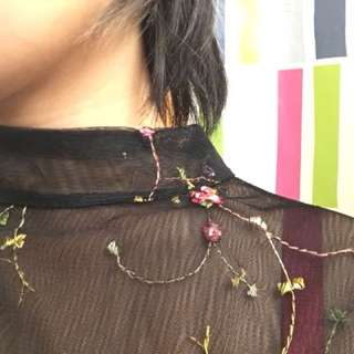 Delicate embroidery top
