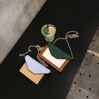 🚚 (現貨售完不追)韓信封多夾層卡層小包鏈條包護照包