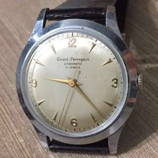 Vintage 1960's Men's Girard Perregaux Gyromatic 17 Jewels