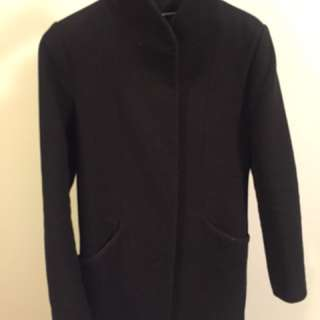Wilfred Cocoon Wool Coat - Black XS