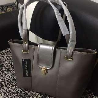 silver golden bag