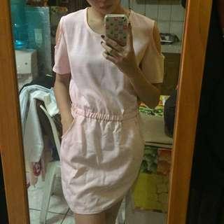 Baby Pink Dress w/ Side pockets