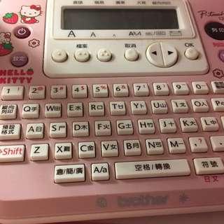 Brother Hello Kitty 打字貼紙機