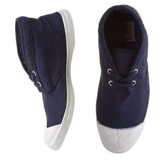 法國Bensimon中筒帆布鞋