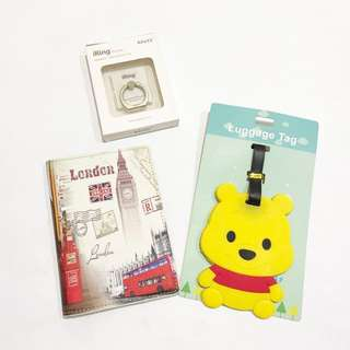 Bundle Deal! Passport Cover + Luggage Tag + Mobile Phone kickstand/ Phone Ring