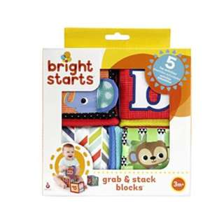 BNIB Bright Starts Grab and Stack Block Toy