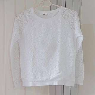 H&M Lace Sweater