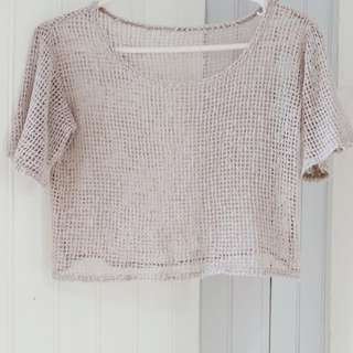Light brown cropped top