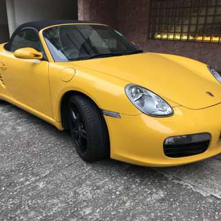 PORSCHE BOXSTER  售$170000  Month / Year:07.2006  Color:YELLOW  Mileage:62,234 km Displacement:2.7L  Steering:Left  Transmission:MT  Fuel:GASOLINE  Drive:2WD  Doors:OPEN  Repaired:None  Chassis No:WPOZZZ98Z6U70****  Model code:***