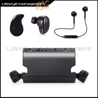 Bluetooth Wireless Earphone Earphones Earpiece Ear Bud Headset Stereo mobile Headphone with Portable Power Storage