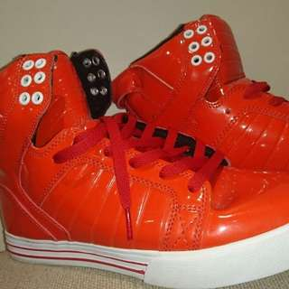 Genuine Supra Skyop red shoes for summer