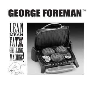 George Foreman Compact Indoor Electric Burger Grill Machine