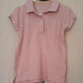 MotherCare Pink Polka Polo Shirt