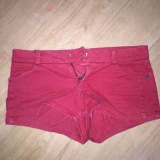 Red PULL & BEAR Shorts
