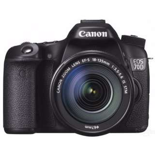 Canon 70D with 18-135 lens