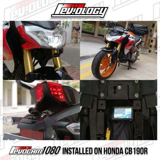 CB190R - RevoCam 1080p 2017 Motorcycle Front + Back Camera