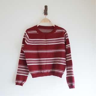 🚚 紅白條紋針織上衣