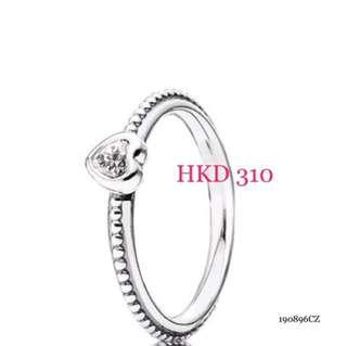 全新 Pandora Delicate Heart Ring